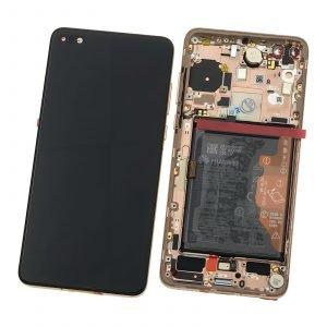 Pantalla completa con marco Original, Huawei P40 - Oro (Service Pack)