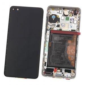 Pantalla completa con marco Original, Huawei P40 - Plata (Service Pack)