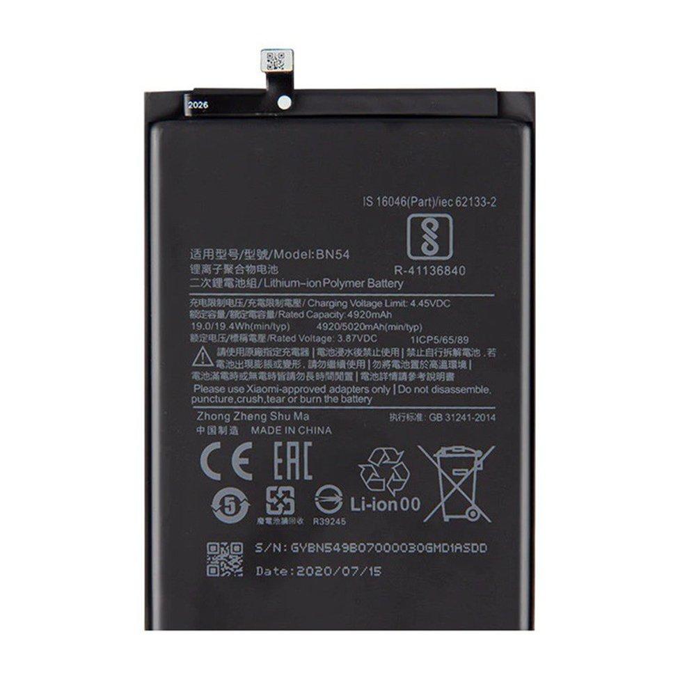 Batería BN54 para Xiaomi Redmi Note 9 / Redmi 9 / Redmi 10X 4G