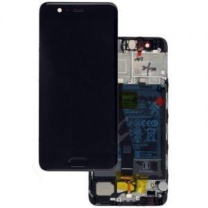 Pantalla completa Original con marco para Huawei P10 - Negro (Service Pack)