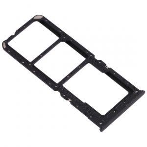 Bandeja de tarjeta sim dual y sd para OPPO A5 2020 - Negro
