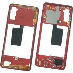 Carcasa intermedia para Samsung Galaxy A41 A415F – Rojo