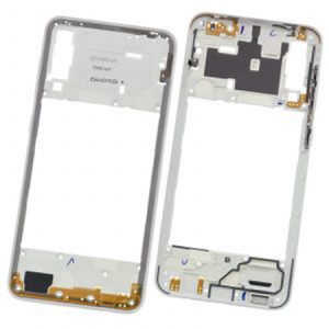 Carcasa intermedia para Samsung Galaxy A30s A307F – Blanco