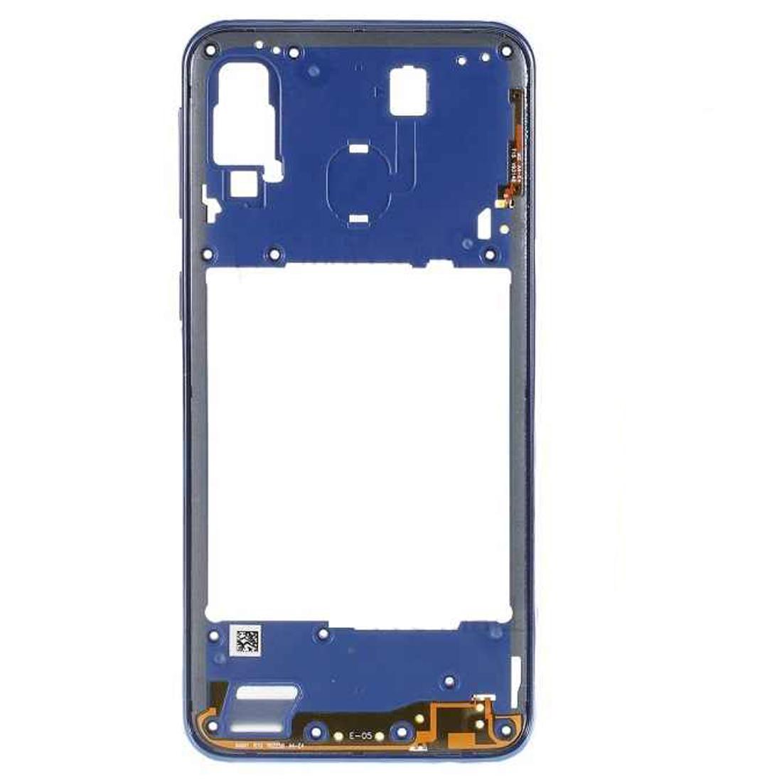Carcasa intermedia para Samsung Galaxy A40 A405F – Azul