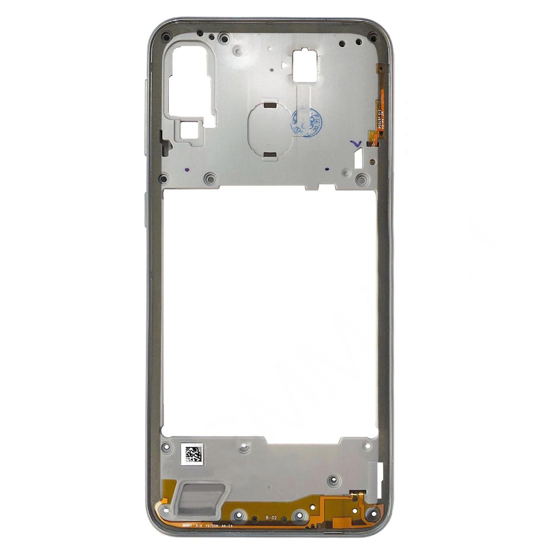 Carcasa intermedia para Samsung Galaxy A40 A405F – Gris