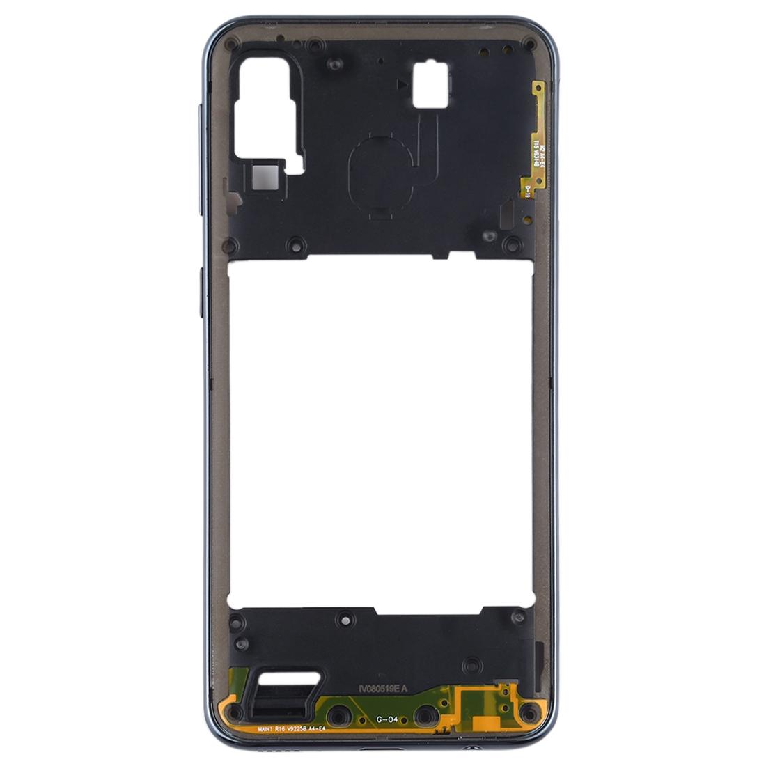 Carcasa intermedia para Samsung Galaxy A40 A405F – Negro