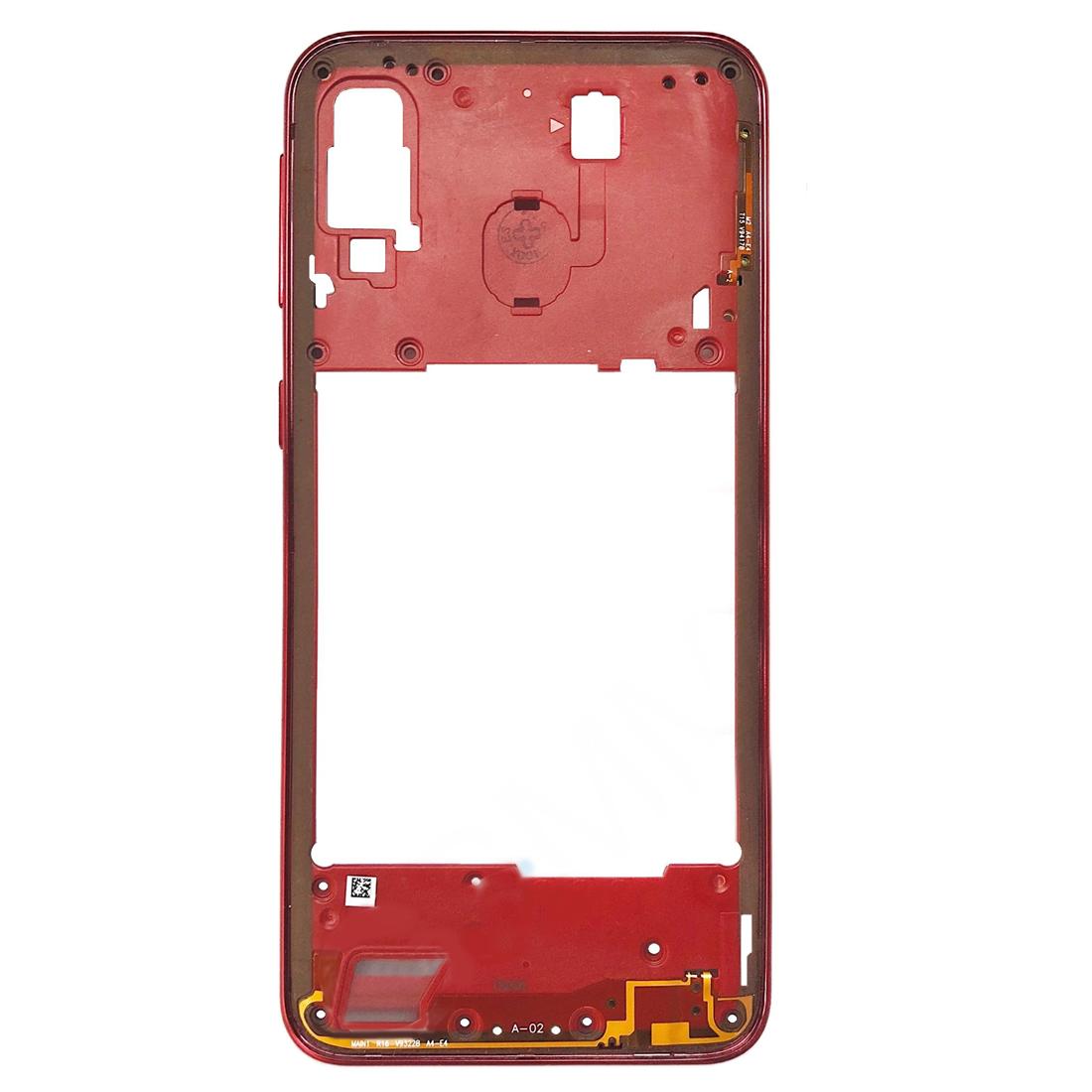 Carcasa intermedia para Samsung Galaxy A40 A405F – Rojo