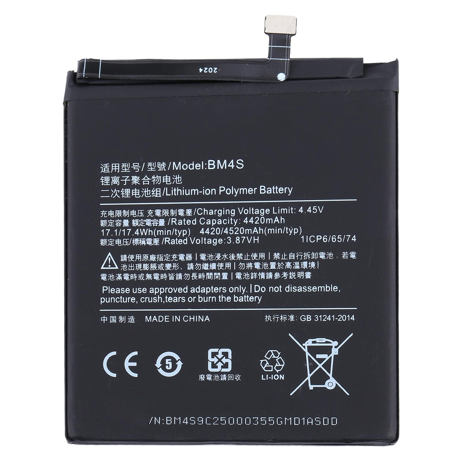 Batería BM4S para Xiaomi Redmi 10X 5G y Redmi 10X Pro 5G