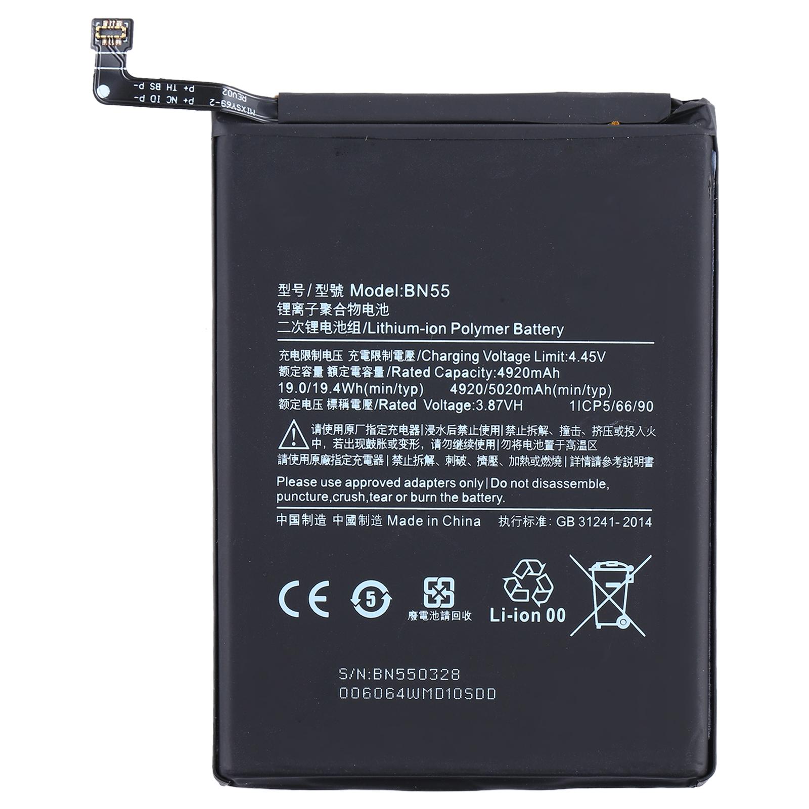 Batería BN55 para Xiaomi Redmi Note 9s