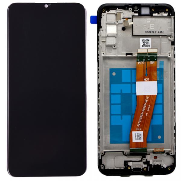 Pantalla completa con marco Original para Samsung Galaxy A02s A025F - Negro