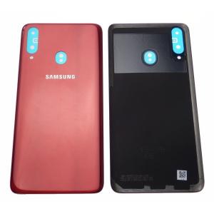 Tapa trasera para Samsung Galaxy A20s 2019 A207F – Rojo