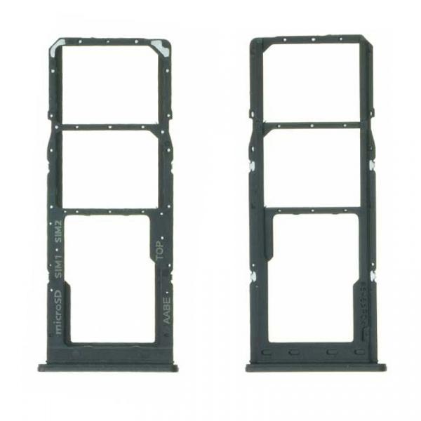 Bandeja de tarjeta SIM y Micro SD para Samsung Galaxy A12 - Negro