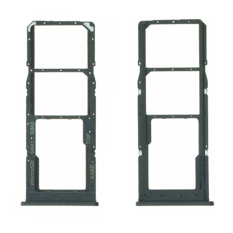 Bandeja de tarjeta SIM y micro SD para Samsung Galaxy A12 A125F - Negro