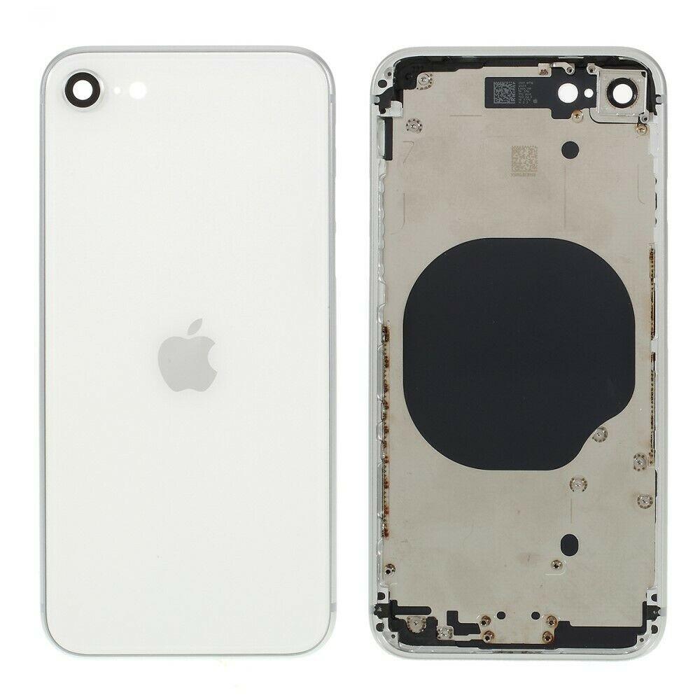 Carcasa intermedia con tapa trasera para iPhone SE 2020 - Blanco