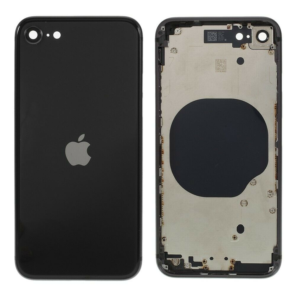 Carcasa intermedia con tapa trasera para iPhone SE 2020 - Negro