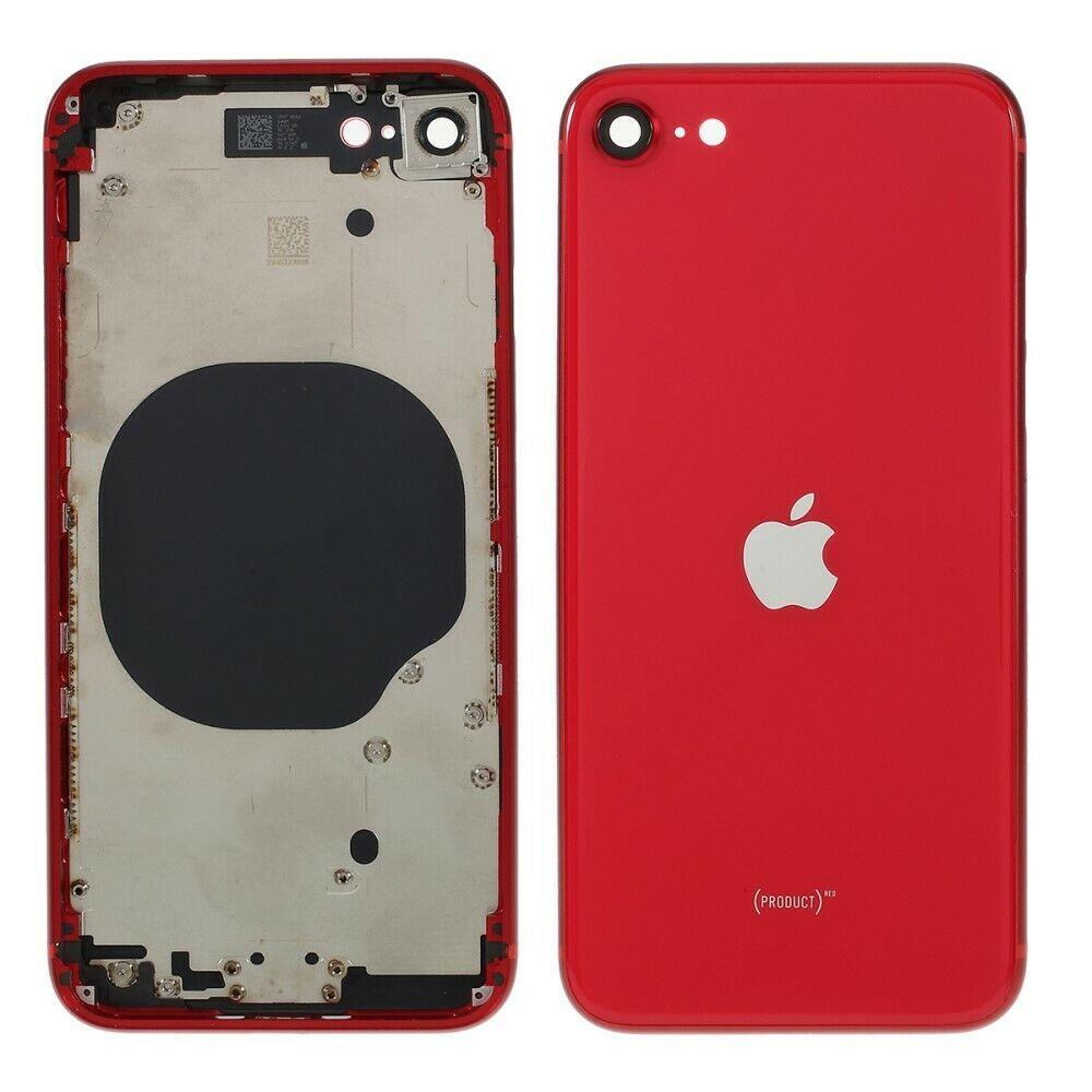 Carcasa intermedia con tapa trasera para iPhone SE 2020 - Rojo