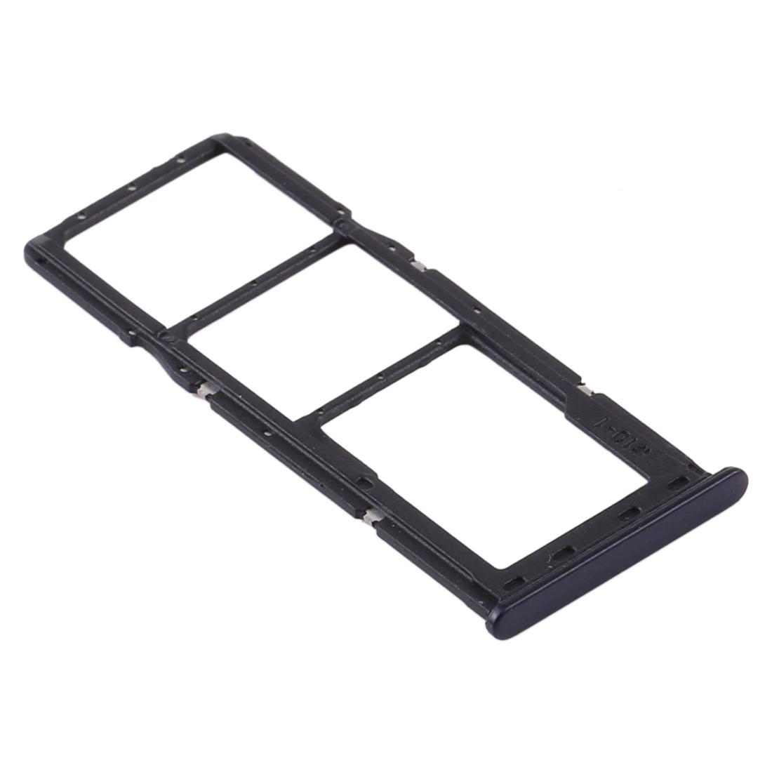 Bandeja de tarjeta SIM y Micro SD para Samsung Galaxy A21 2020 A215F - Negro