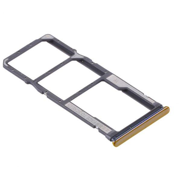 Bandeja de tarjeta SIM y Micro SD para Xiaomi Redmi Note 10 – Oro