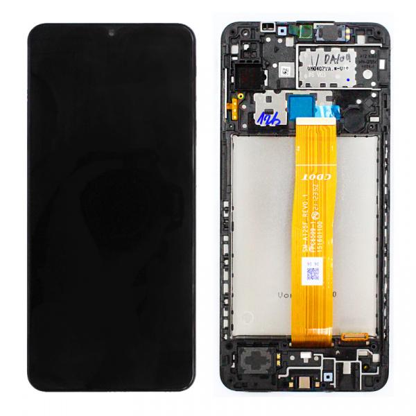 Pantalla completa con marco Original para Samsung Galaxy A12 (2020) A125F - Negro