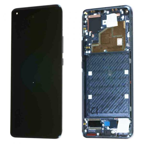 Pantalla completa con marco para Xiaomi Mi 11 5G - Negro