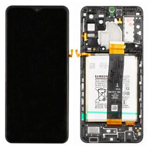 Pantalla completa con marco y batería Original para Samsung Galaxy A32 5G (A326B) Negro - Service Pack