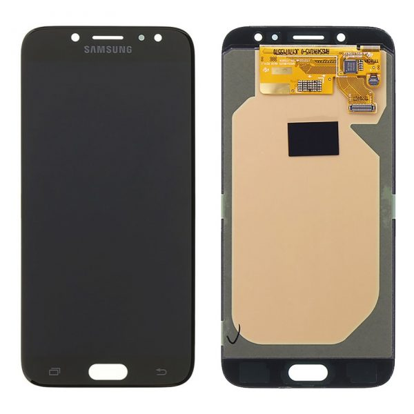 Pantalla completa sin marco para Samsung Galaxy J7 2017 J730 - Negro (Compatible)