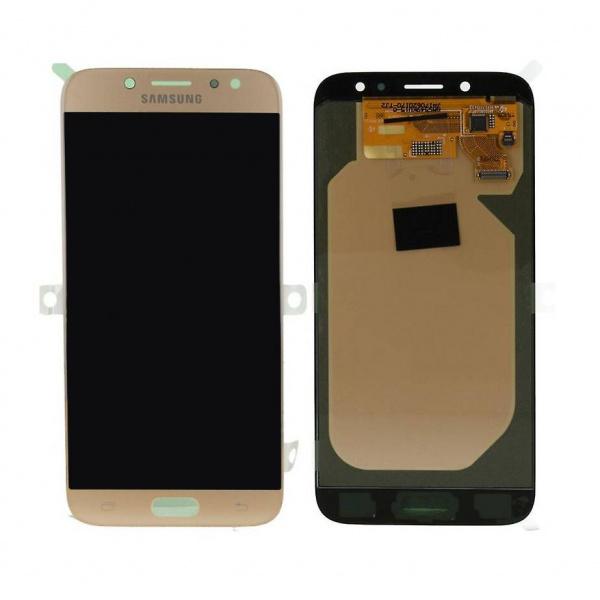 Pantalla completa sin marco para Samsung Galaxy J7 2017 J730 - Oro Compatible