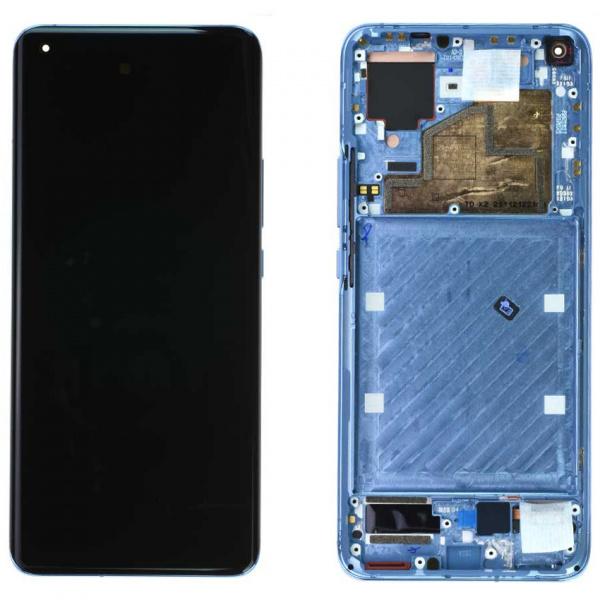 Pieza de repuesto pantalla completa con marco super amoled original para Xiaomi Mi 11 5G - azul