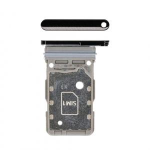 Bandeja de tarjeta sim para Samsung Galaxy S21 Ultra 5G G998B - Negro