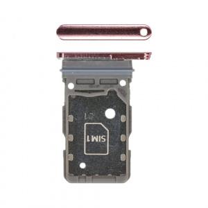 Bandeja de tarjeta sim para Samsung Galaxy S21 Ultra 5G G998B - Rosa