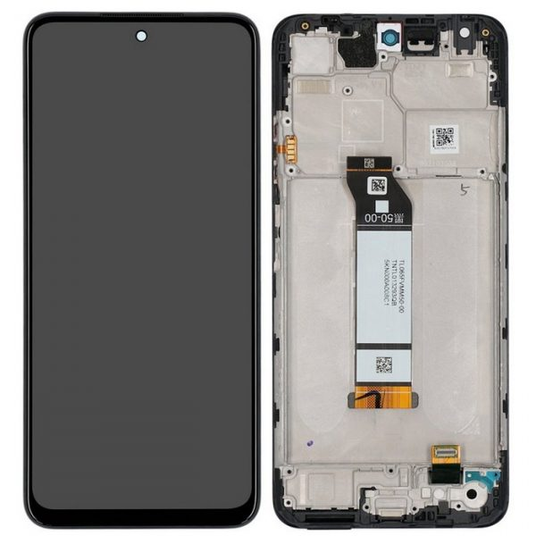 Pantalla display completa con marco para Xiaomi Redmi Note 10 5G - Negro