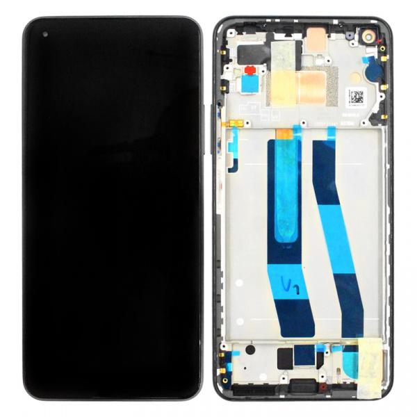 Pantalla display con marco para Xiaomi Mi 11 Lite - Mi 11 Lite (5G) - Negro