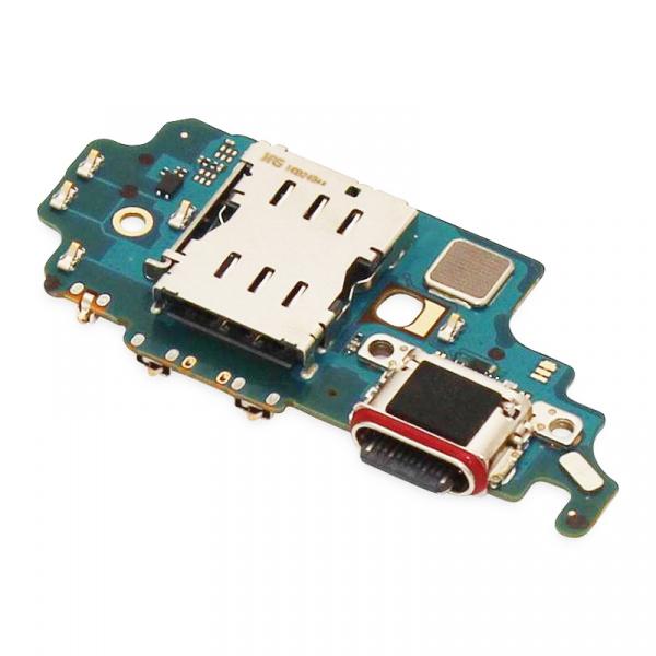 Placa con conector de carga y lector sim para Samsung Galaxy S21 Ultra 5G G998B