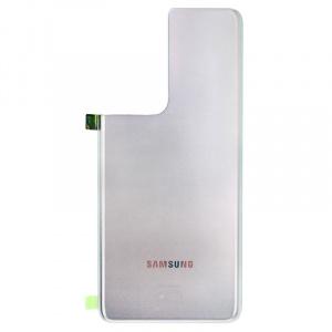 Tapa trasera para Samsung Galaxy S21 Ultra 5G G998B - Plata