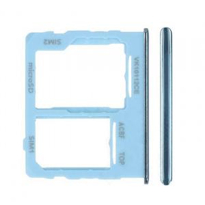 Bandeja de tarjeta sim y micro sd para Samsung Galaxy A32 5G (2021) SM-A326B - Azul