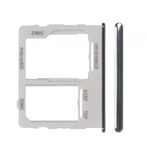 Bandeja de tarjeta sim y micro sd para Samsung Galaxy A32 5G (2021) SM-A326B - Blanco