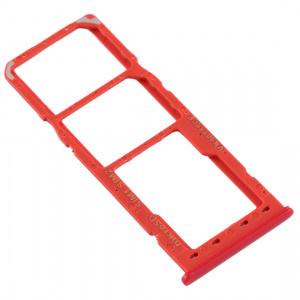 Bandeja, soporte SIM y SD para Samsung Galaxy A12 A125F – Rojo