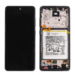 Pantalla display Original con marco para Samsung Galaxy A52 4G, A52 5G - Negro