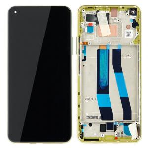 Pantalla display con marco para Xiaomi Mi 11 Lite, Mi 11 Lite (5G) – Amarillo