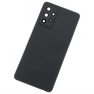 Tapa trasera para Samsung Galaxy A52 4G, A52 5G – Negro