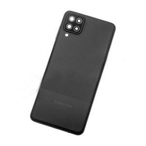 Tapa trasera para Samsung Galaxy A12, SM-A125F – Negro